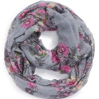 Girl's The Accessory Collective Woven Floral Infinity Scarf - Pink