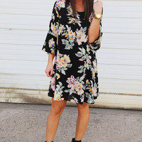 Fall With Me Floral Dress
