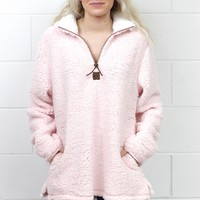Snuggle is Real Sherpa Pullover w/ Pockets {L. Pink}