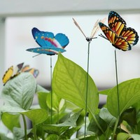 15  Artificial Butterfly Garden Stake Decorations