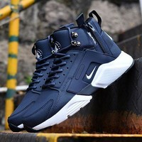 Tagre™ ONETOW Best Online Sale Nike Air Huarache X Acronym City Customise MID Leather Sport Shoes Blue White