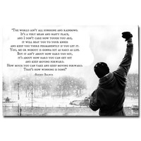 ROCKY BALBOA - Motivational Inspirational Quotes Art Silk Fabric Poster Print 12x18 20x30 24x36 inches Home Office Decor 011