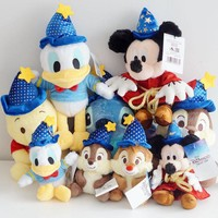 Cartoon Mickey Mouse Stitch Donald Duck Winnie Bear Chip 'n' Dale Squirrel Magician Wizard Plush toy Stuffed Animals Doll Gifts
