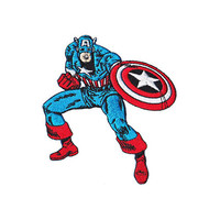 Captain America Retro Iron-On Patch