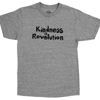 Kindness is Revolution, gray graphic tee