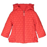 BILLIEBLUSH - Red Heart Quilt Hooded Puffer Coat
