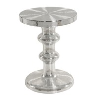 Zapata Mirrored Round End Table