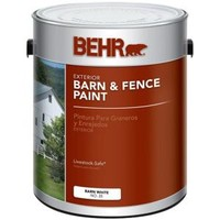 BEHR, 1-gal. White Exterior Barn and Fence Paint, 03501 at The Home Depot - Mobile