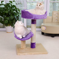 Cat Toy Scratching Wood Climbing Tree Cat Playing Climbing With Ball Furniture Kitten Training Sleeping Bed Sofa High Quality