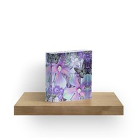 'Orchid Hibiscus Tropical' Acrylic Block by Nina May