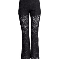 H&M Flared Lace Pants $24.95