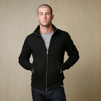 Mens Heavyweight Full Zip Mock Neck Sweatshirt