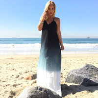 Angled Ombre Maxi Dress