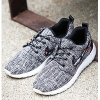 Trending Women Men Canvas Linen Lace Up Breathable Shoes Sport Running Shoes Sneakers Lazy Person Shoe