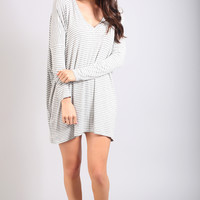 follow the rules striped tunic