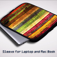 Best Colorful WOOD Sleeve for Laptop, Macbook Pro, Macbook Air (Twin Sides)