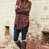 In The Loop Sweater, Burgundy