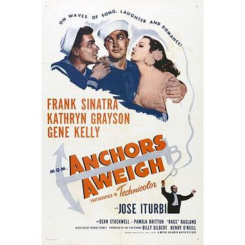 Anchors Aweigh Poster//Anchors Aweigh Movie Poster//Movie Poster//Poster Reprint