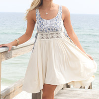 Flower Child Embroidered Peasant Dress