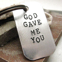 God Gave Me You custom quote key chain antique by riskybeads