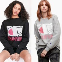 Champion 17SS Print Crew neck Top Sweater Pullover Sweatshirt