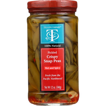 Tillen Farms Snap Peas - Hot and Spicy Crispy - 12 oz - case of 6