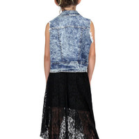 Tru Luv Black Lace Maxi Skirt | Mod Angel
