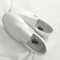 Vans classic black/white men's and women's low-top canvas shoes