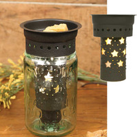Country Star Rustic Brown Pint Mason Jar Wax Warmer