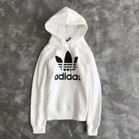 Adidas Men Women Fashion Top Pullover Hooded Sweater Sweatshirt