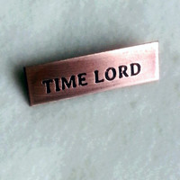 Copper Pin - Time Lord
