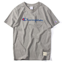 Champion Hot Sale Embroidery (5-color) Tee shirt top Grey