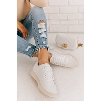 Happy Places Casual Sneakers (White)