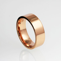 Wide rose gold wedding band, 14k rose gold, simple wedding band, men rose gold ring, modern ring, men's wide ring, yellow gold, white gold