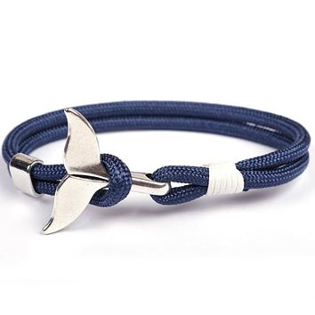 Anchor Whale Tail Rope Handmade Bracelet