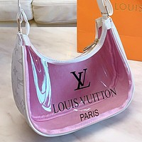 LV New fashion monogram print leather shoulder bag handbag Pink