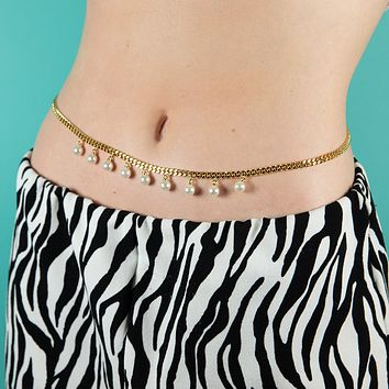 Pearl Drop Belly Chain