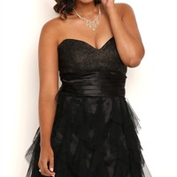 Dress with Lace Bodice