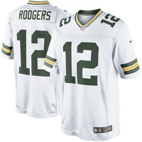 Men's Green Bay Packers Aaron Rodgers Nike White Limited Jersey