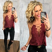 Making a Statement Cami: Burgundy