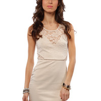 Papaya Clothing Online :: CUT OUT BACK LACY DETAIL BEADED DRESS