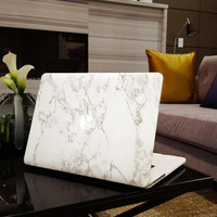 """Marble MacBook Air 13"""" Case Cover, Novo Rubberized Hard Shell"""
