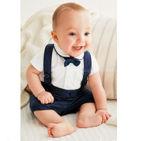 Baby Boys 2 PC Overall Jumpsuit + Collared Shirt