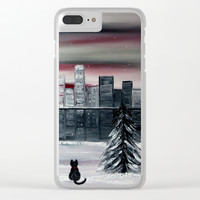 November Clear iPhone Case by nathalieart07