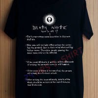 Death Note Shirt T Shirt T-Shirt TShirt Tee Shirt No Side Seams Unisex - Size S M L XL