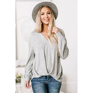Oh The Promises Soft Knit Knot Top