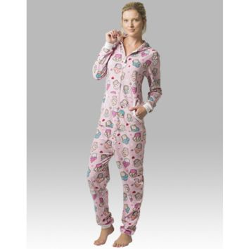 Cupcakes - Hooded  Adult Pajamas - Ruffles with Love - RWL