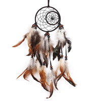 Newest India Styles Handmade Dream Catcher With Feathers Car Wall Hanging Decoration Gift Room Decor Dreamcatcher