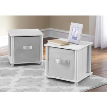 Walmart: Mainstays No Tools Single Cube Storage Shelf Side Tables, Set of 2