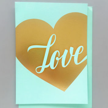 Mint Love Card
